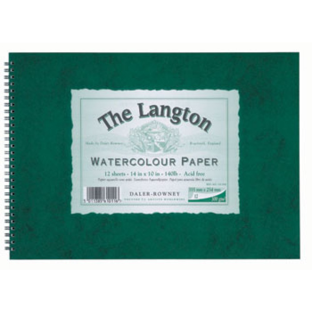 Daler Rowney : Langton : 16x20in : Watercolour Paper Pad : 300gsm : Not