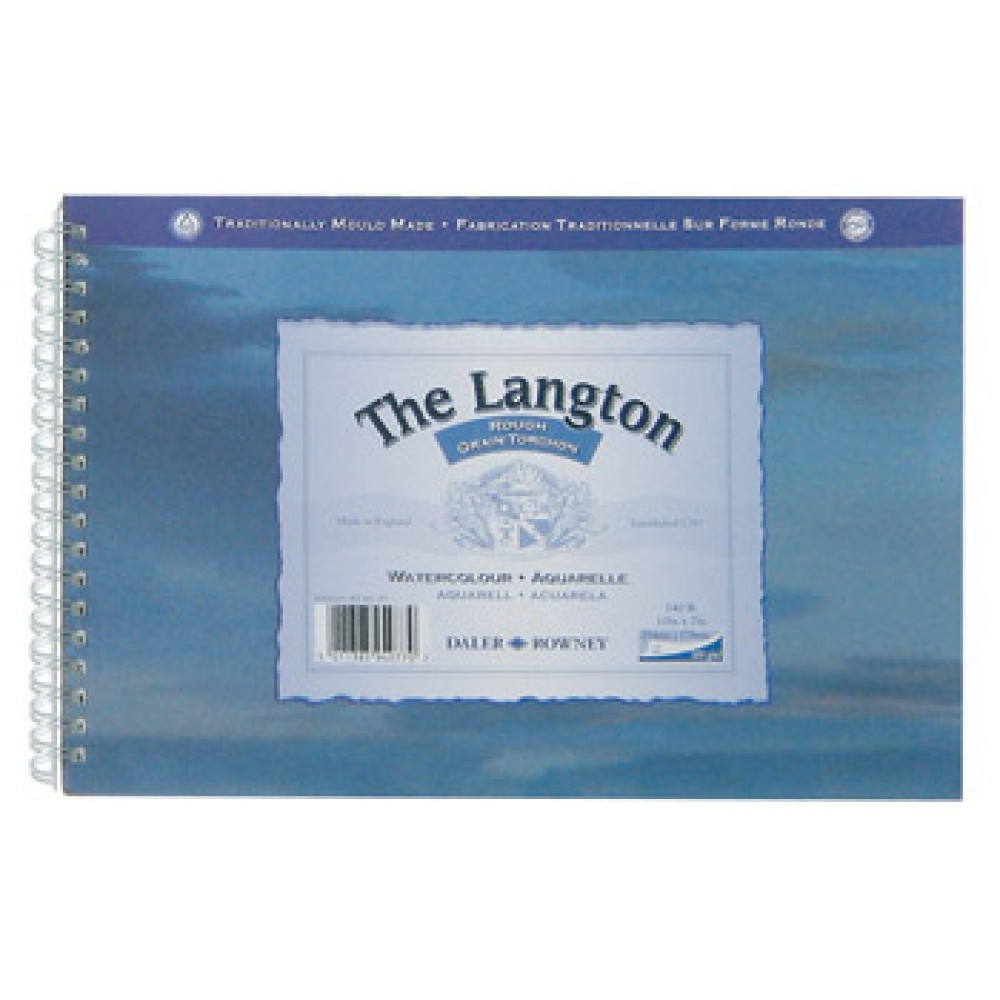 Daler Rowney : Langton : 16x20in : Watercolour Paper Pad : 300gsm : Rough