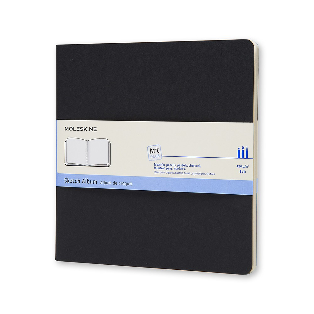 Moleskine Sketch Album 120gsm 19x19cm 44 Sheets Black