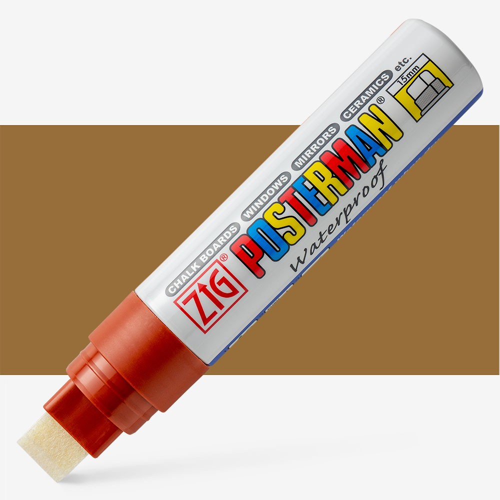 Zig : Posterman Chalk Board Marker : Big & Broad (15mm Nib) : Brown