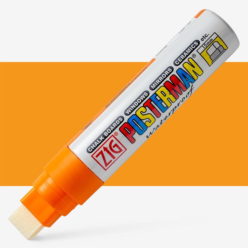Zig : Posterman Chalkboard Pens - Big & Broad (15mm tip) - ORANGE