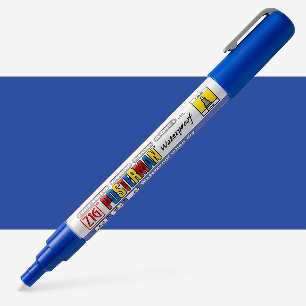 Zig : Posterman Chalkboard Pens - Fine (1mm tip) - BLUE