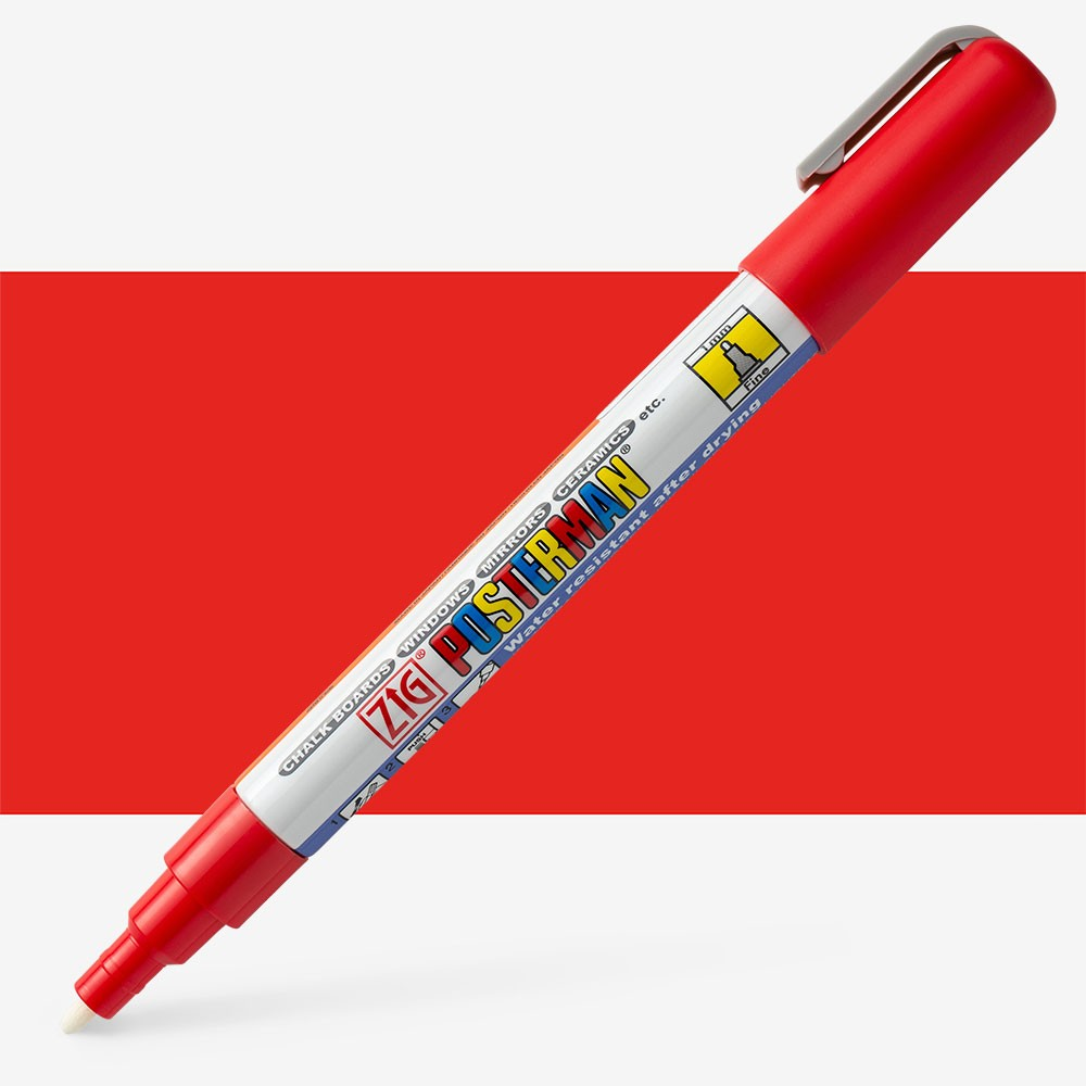 Zig : Posterman Chalk Board Marker : Fine (1mm Nib) : Red