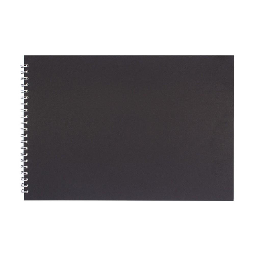 Pink Pig : Sketchbook : 150gsm : A3 : Black Cover : Landscape