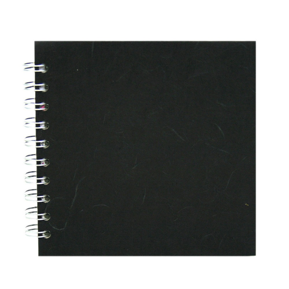 Pink Pig : Sketchbook : 150gsm : 6x6in : Silk Black Cover : Square