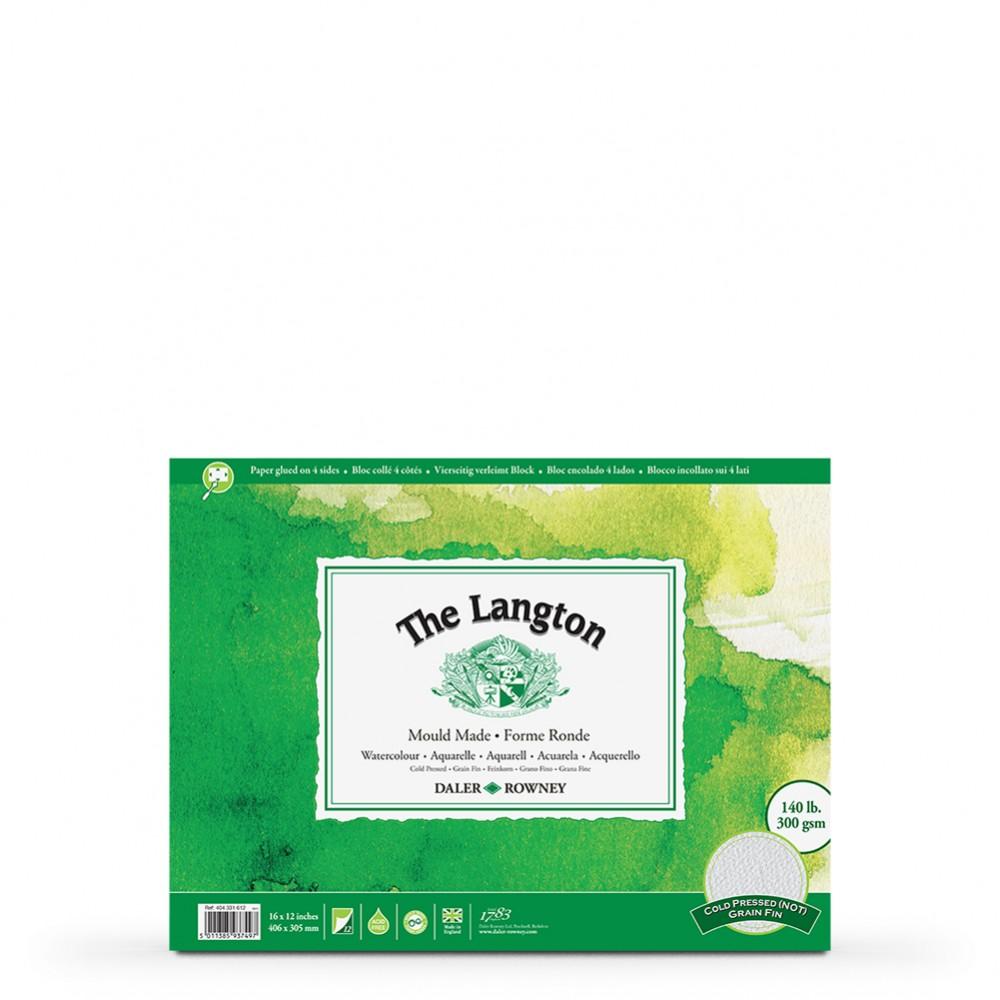 Daler Rowney : Langton : 12x16in : Watercolour Paper : Block : 140lb : Not