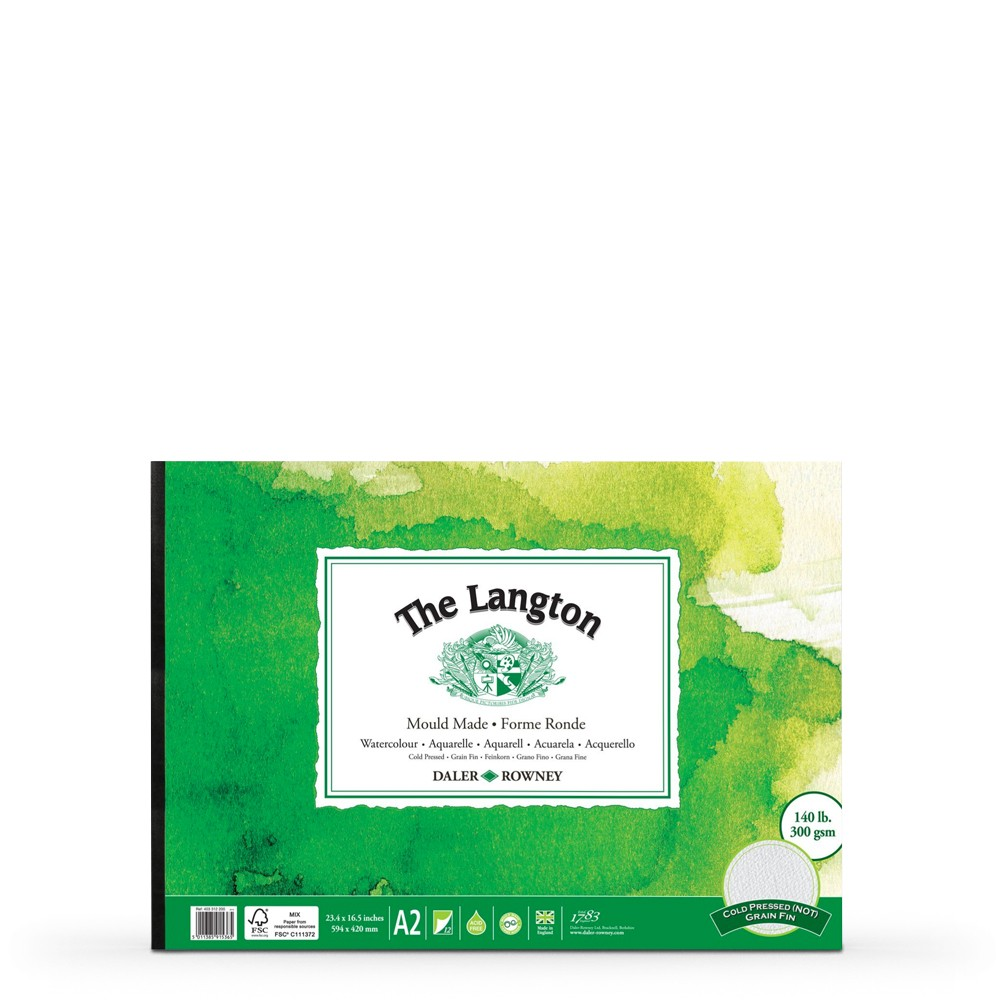 Daler Rowney : Langton : Watercolour Paper Pad : 300g : A2 : Landscape : Not