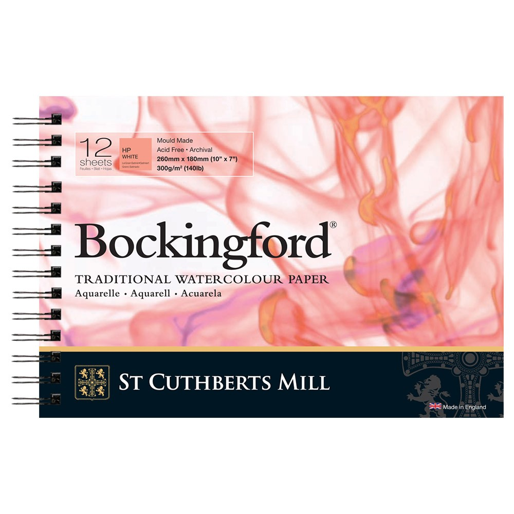 Bockingford : Spiral Pad : 7x10in : 300gsm : 12 Sheets : Hot Pressed