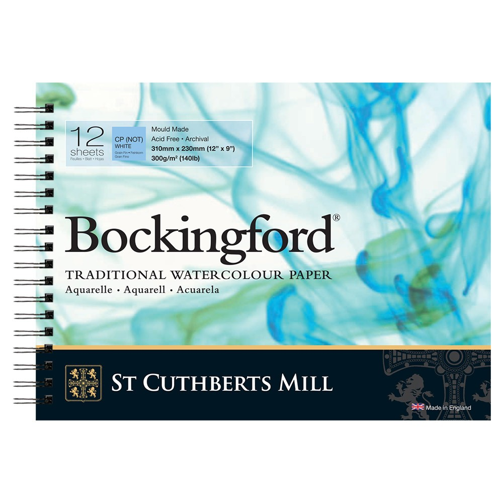 Bockingford : Spiral Pad : 9x12in : 300gsm : 12 Sheets : Not