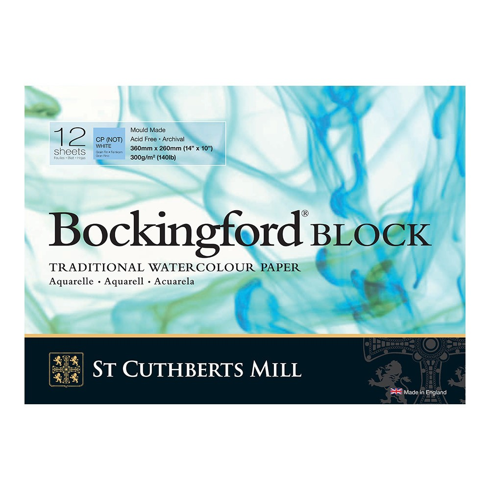 Bockingford : Block : 10x14in : 300gsm : 12 Sheets : Not
