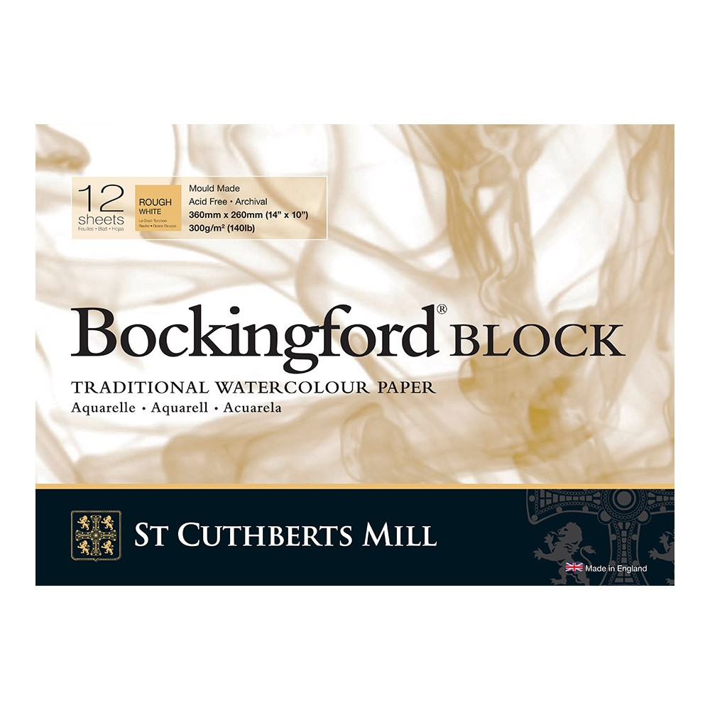 Bockingford : Block : 10x14in : 300gsm : 12 Sheets : Rough