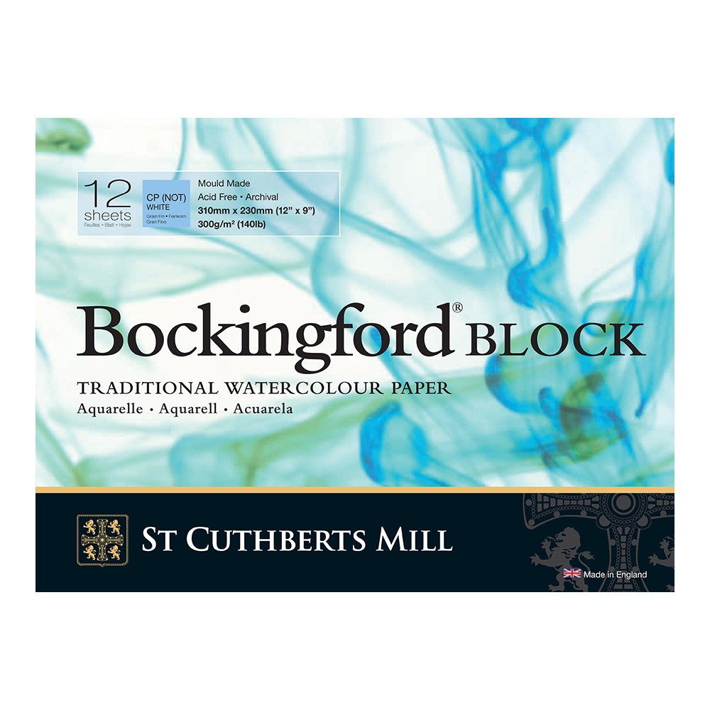 Bockingford : Block : 9x12in : 300gsm : 12 Sheets : Not
