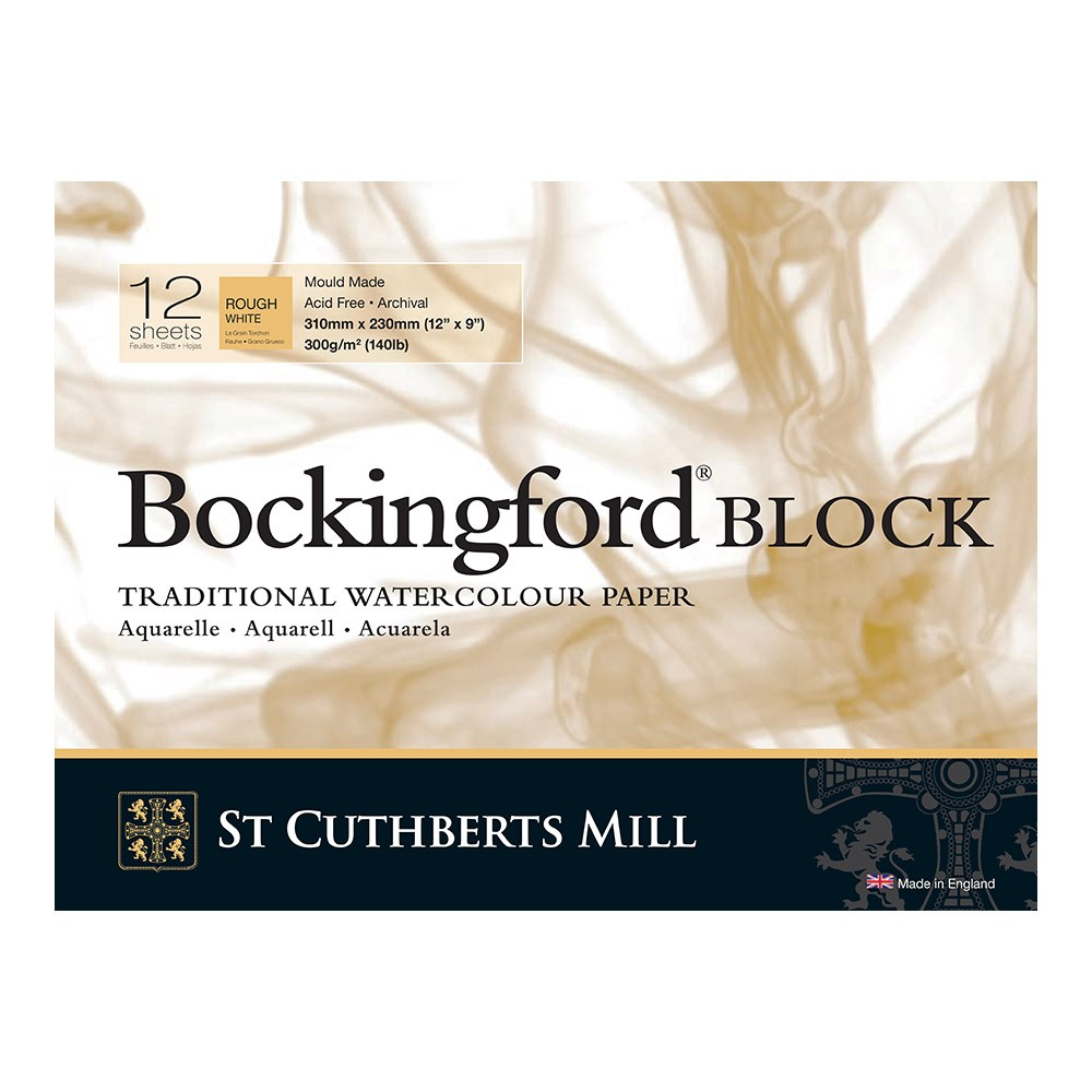 Bockingford : Block : 9x12in : 300gsm : 12 Sheets : Rough