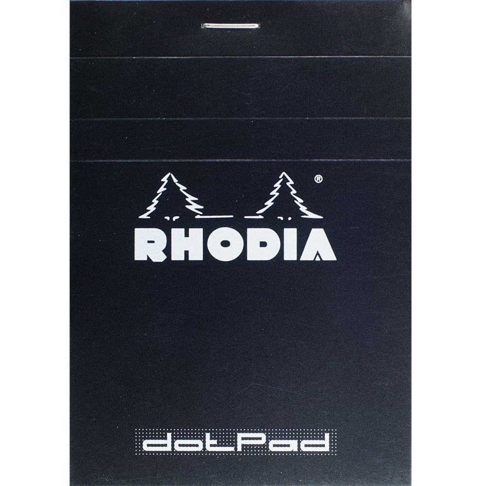 Rhodia : No.12 Basics Dot Pad : Black Cover : 80 Sheets : 8.5x12cm