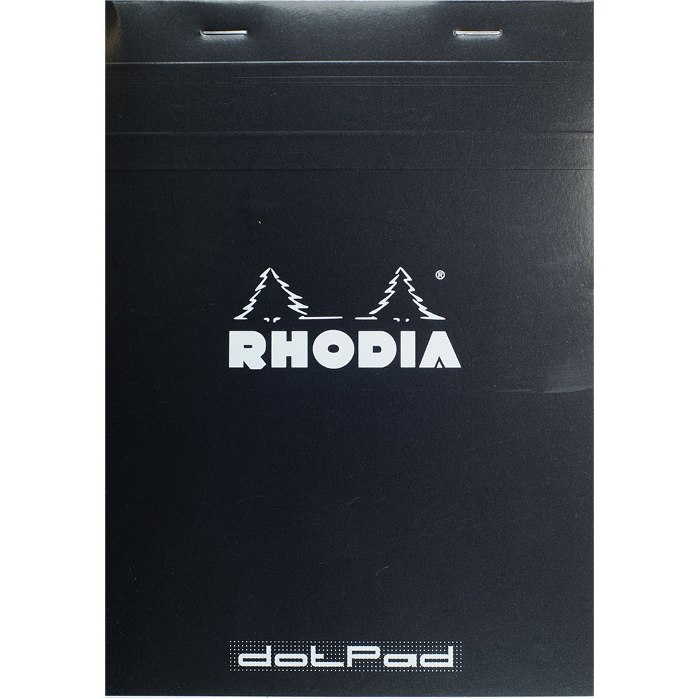 Rhodia : No.16 Basics Dot Pad : Black Cover : 80 Sheets : A5