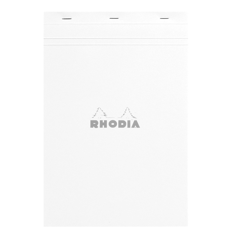 Rhodia : No.19 Basics Grid Pad : White Cover : 80 Sheets : 21x31.8cm