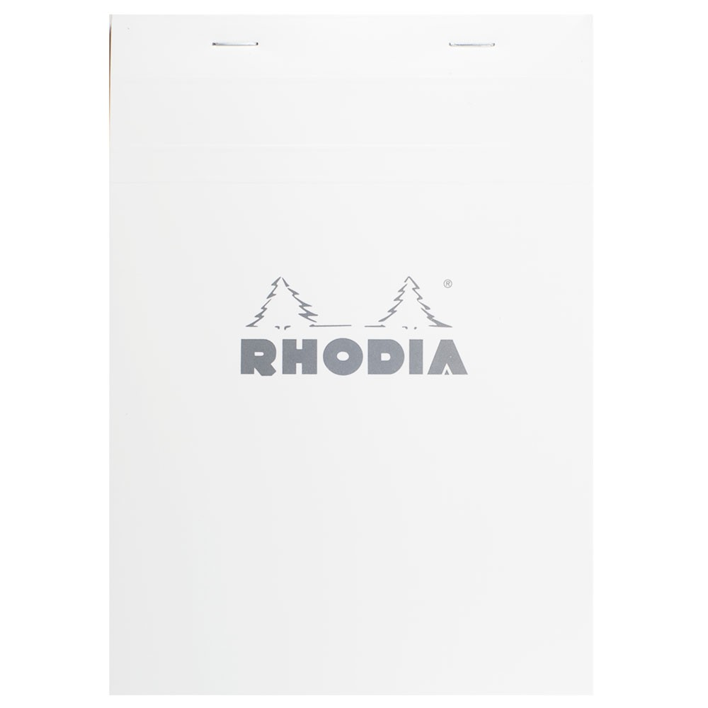 Rhodia : Basics Grid Pad : White Cover : 148x210mm (A5 14.8x21cm)