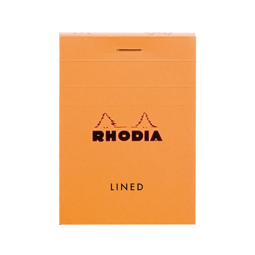 Rhodia : Basics Lined Pad : Orange Cover : 74x105mm (A7 7.4x10.5cm)