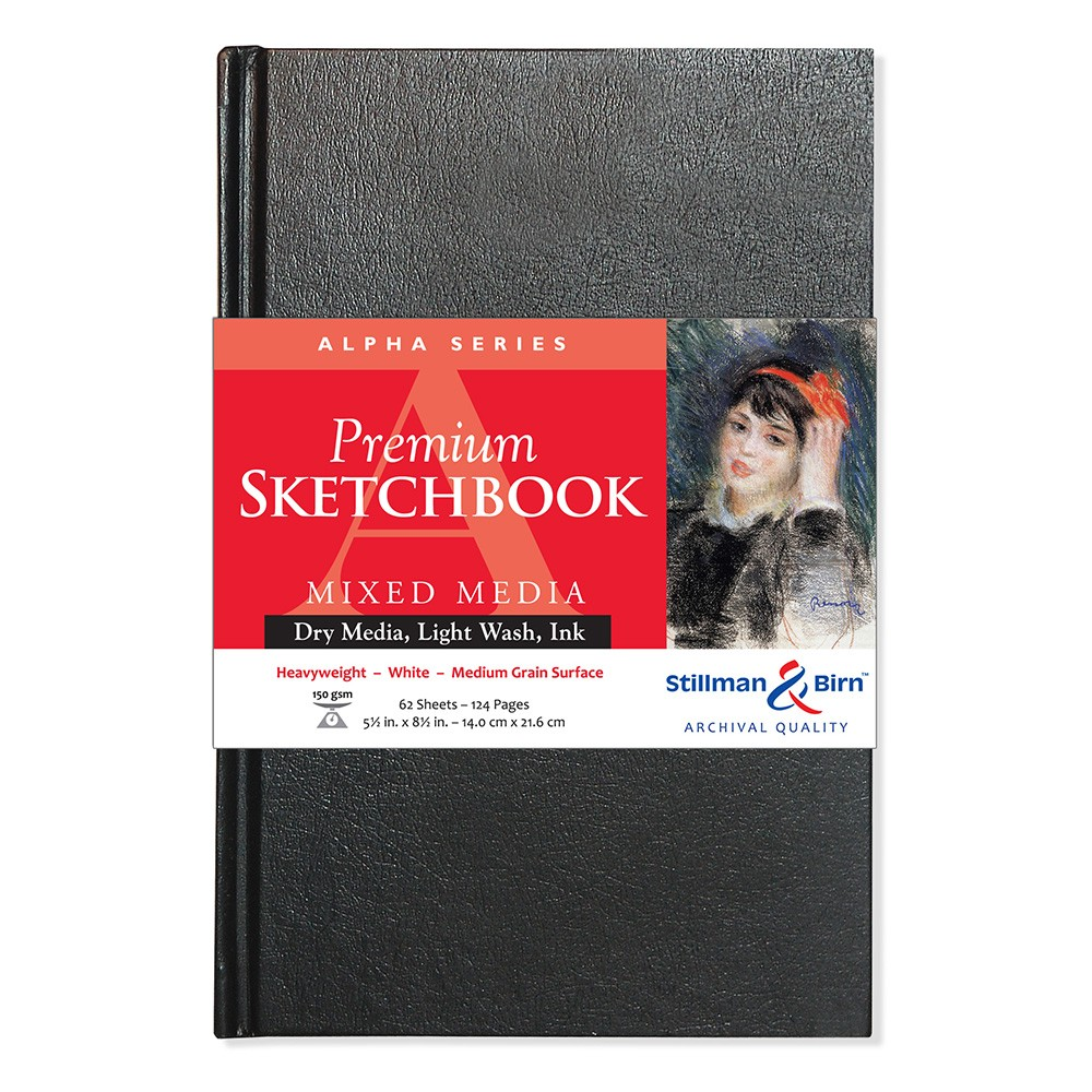 Stillman & Birn : Alpha Sketchbook 5.5 x 8.5in Hardbound 150gsm - White Vellum