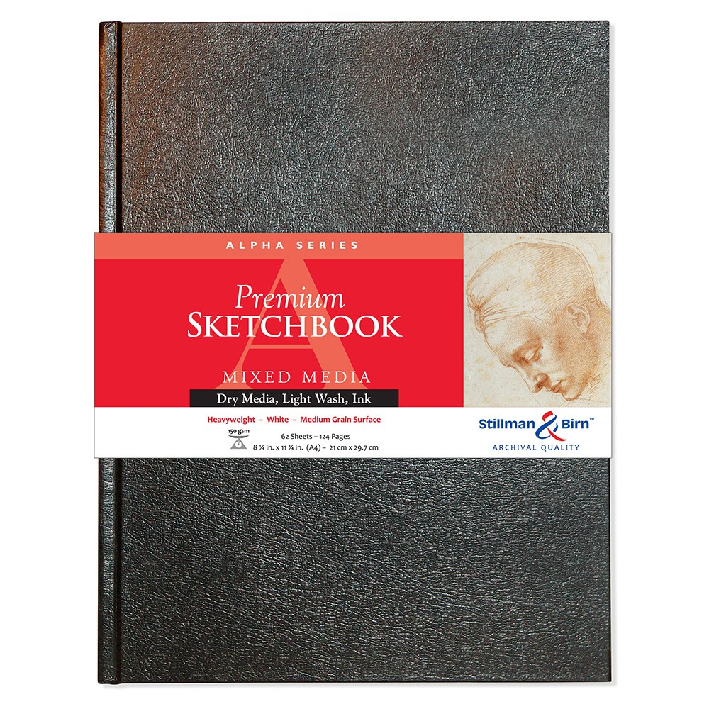 Stillman & Birn : Alpha Sketchbook 8.25 x 11.75in (A4) Hardbound 150gsm - Natural White Vellum