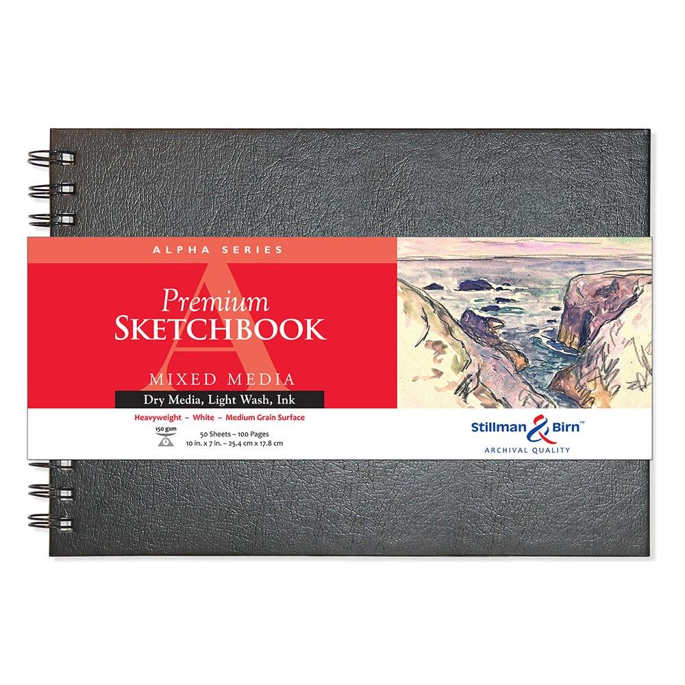 Stillman & Birn : Alpha Sketchbook 10 x 7in Wirebound 150gsm - Natural White Vellum