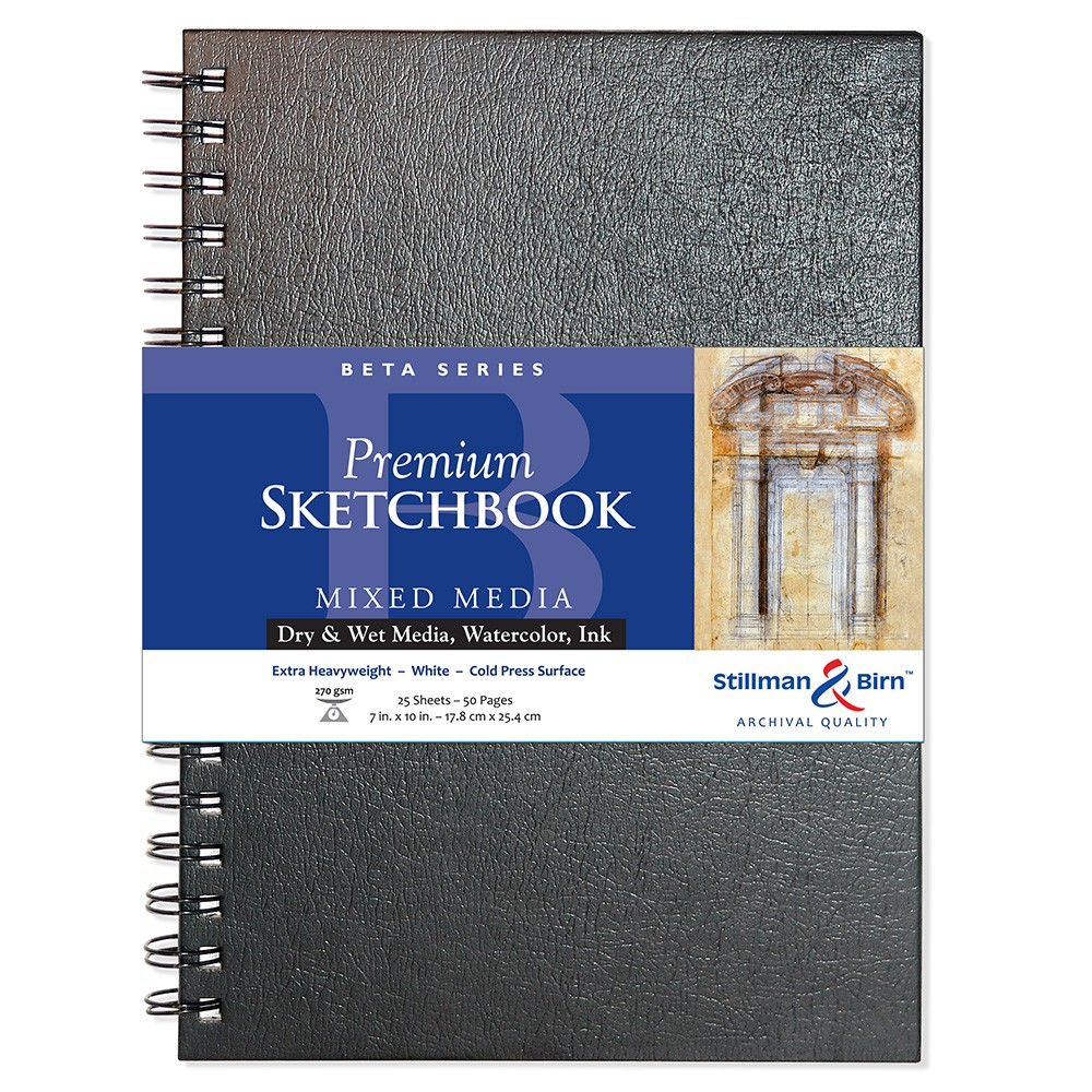 Stillman & Birn : Beta Sketchbook 7 x 10in Wirebound 270gsm - Natural White Cold Press/Rgh