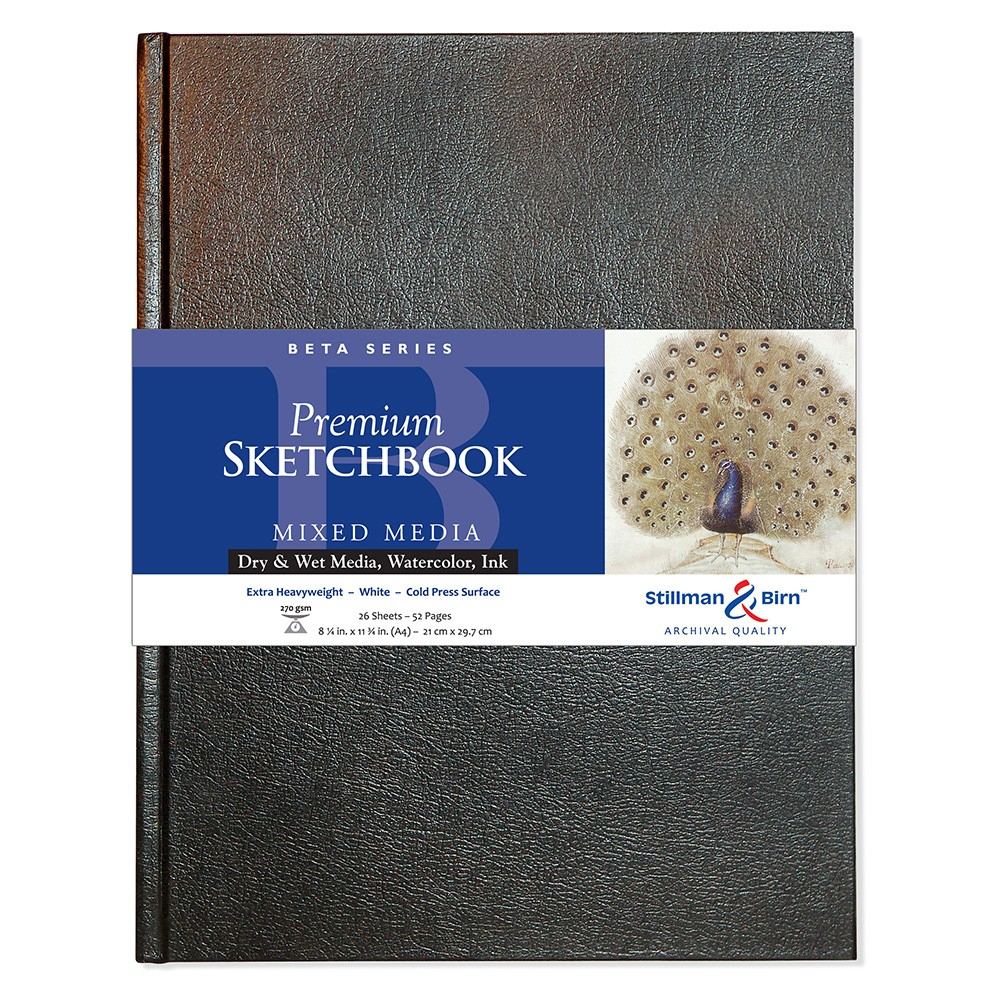 Stillman & Birn : Beta Sketchbook 8.25 x 11.75in (A4) Hardbound 270gsm - Natural White Cold Press/Rgh