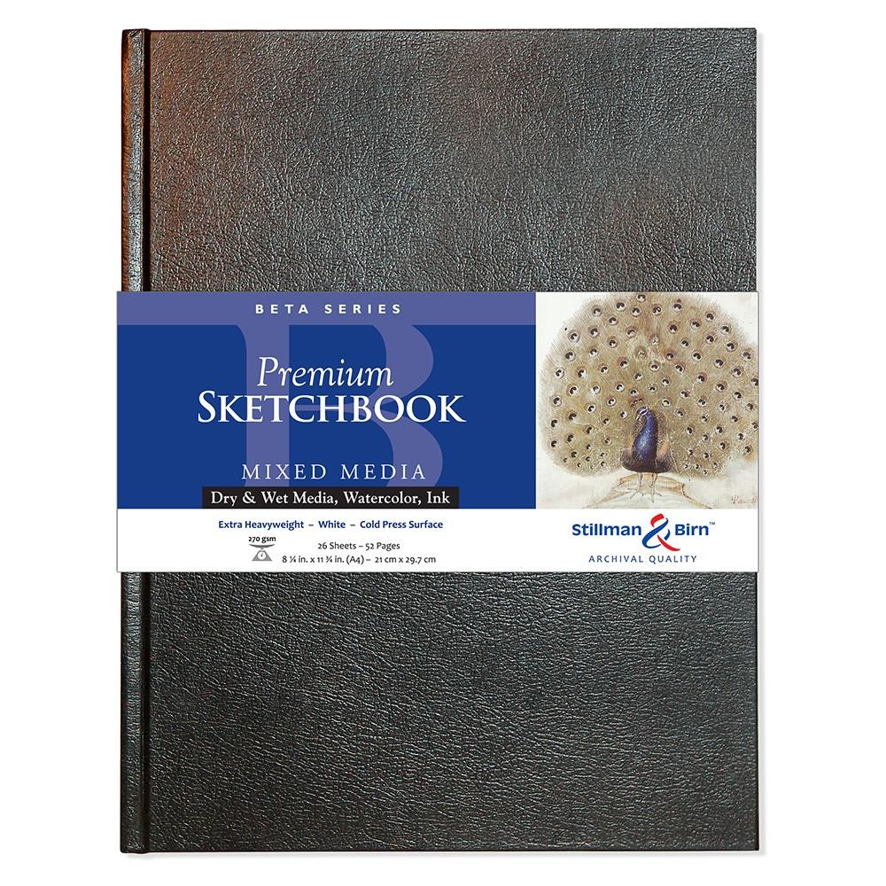 Stillman & Birn : Beta Sketchbook 8.25 x 11.75in (A4) Hardbound 270gsm - Natural White Cold Press/Rgh