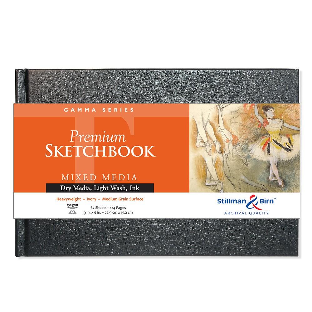 Stillman & Birn : Gamma Sketchbook 9 x 6in Hardbound 150gsm - Ivory Vellum