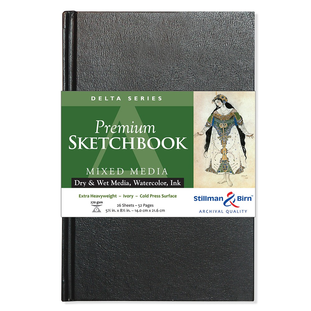 Stillman & Birn : Delta Sketchbook : 5.5 x 8.5in Hardbound 270gsm : Ivory : Cold Pressed / Rough