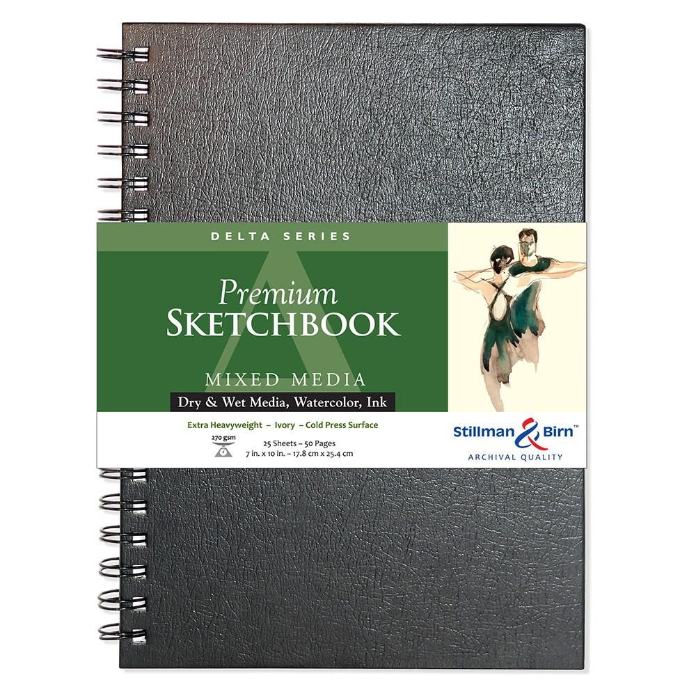Stillman & Birn : Delta Sketchbook 7 x 10in Wirebound 270gsm - Ivory Cold Press/Rgh