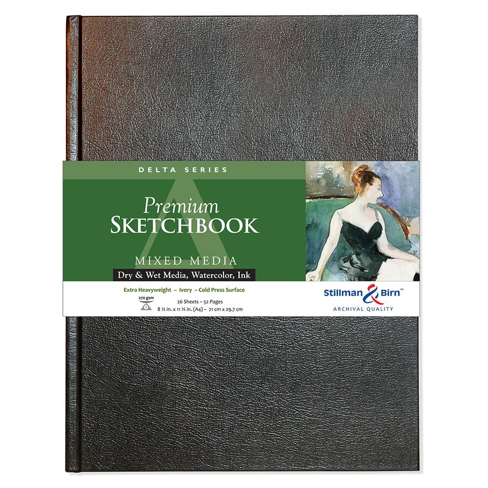 Stillman & Birn : Delta Sketchbook 8.25 x 11.75in (A4) Hardbound 270gsm - Ivory Cold Press/Rgh