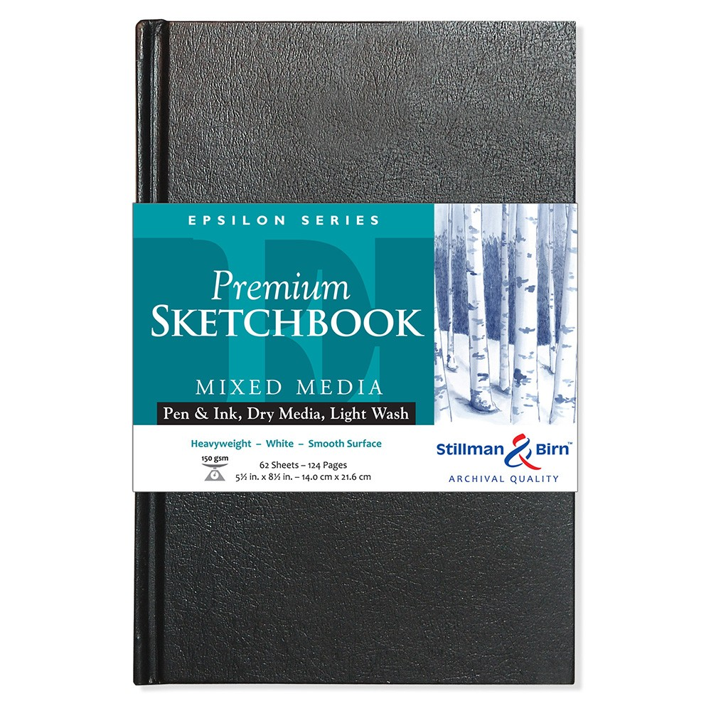 Stillman & Birn : Epsilon Sketchbook 5.5 x 8.5in Hardbound 150gsm - Natural White Smooth