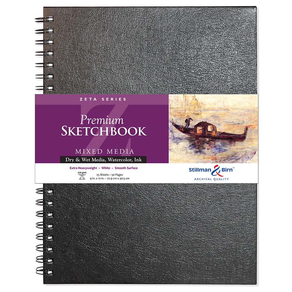 Stillman & Birn : Zeta Sketchbook 9 x 12in Wirebound 270gsm - Natural White Smooth