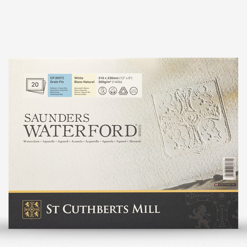 Saunders Waterford : Block : 300gsm : 9x12in : 20 Sheets : Not