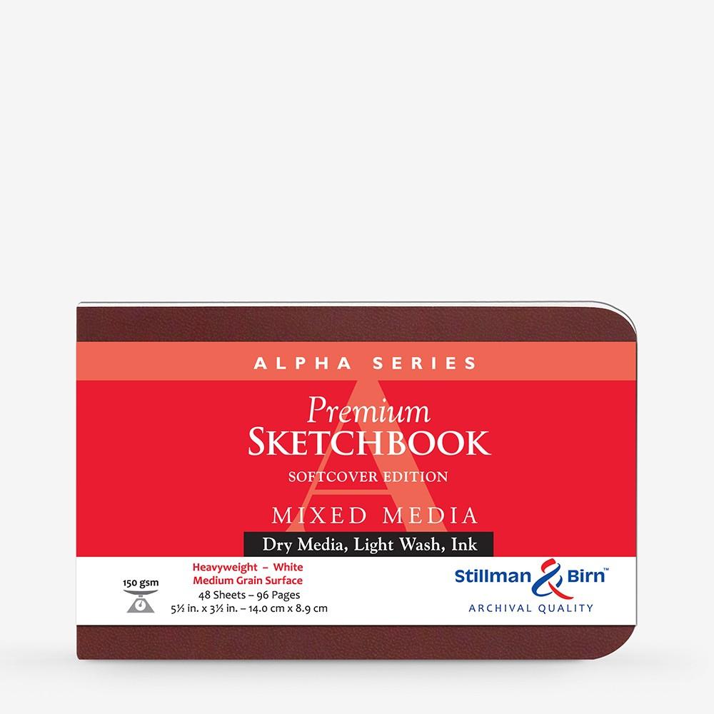 Stillman & Birn : Alpha Softcover Sketchbook : 150gsm : Med Grain : 5.5x3.5in (14x9cm) : Landscape