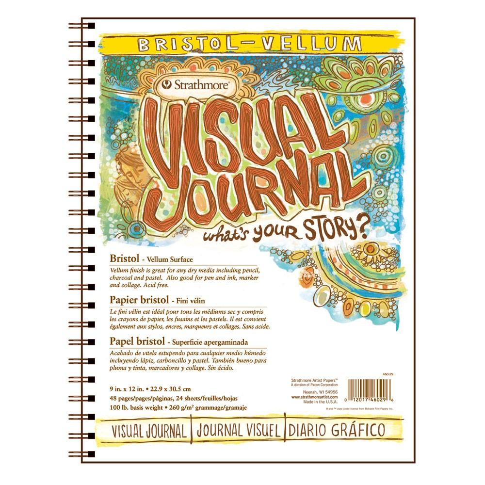 Strathmore : Visual Journal : Bristol Pad : 163gsm : 9x12in : Vellum