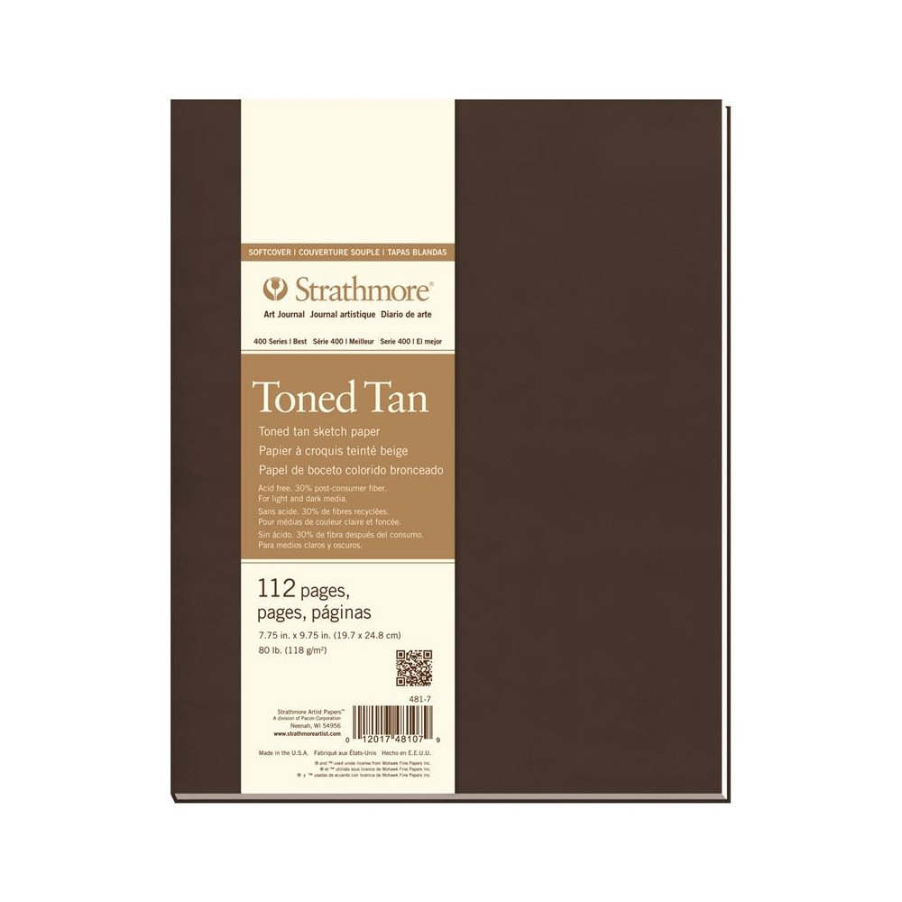 Strathmore : 400 Series : Toned Tan : Softcover Art Journal : 7.75x9.75in