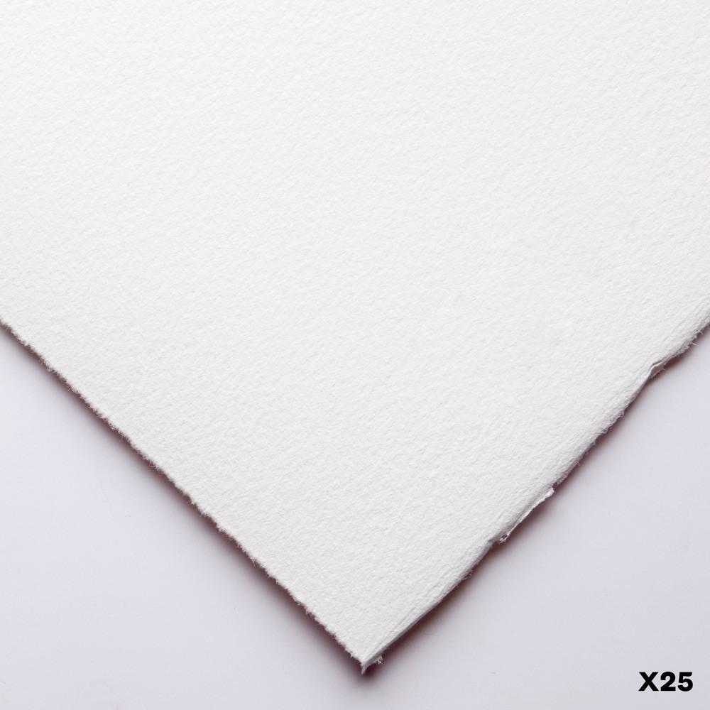 Somerset : Printmaking Paper : 56x76cm : 300gsm : White : Textured : Pack of 25