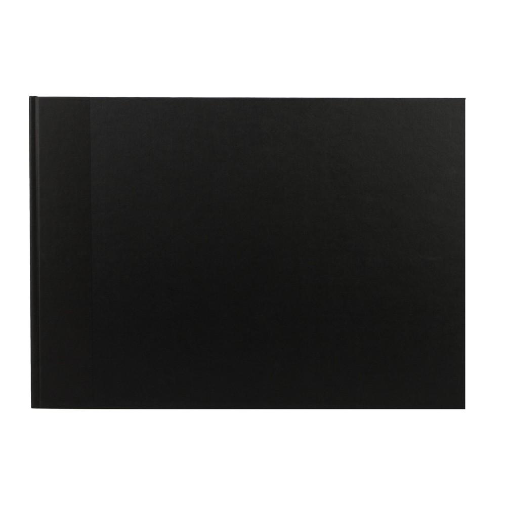 Seawhite : Black Cloth Case Bound Sketchbook 140gsm : A3 Landscape