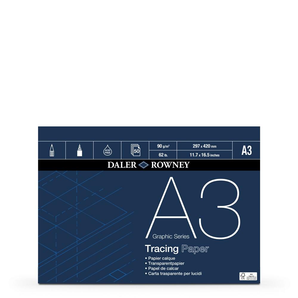 Daler Rowney : Tracing Pad : 90gsm : 50 sheets : A3