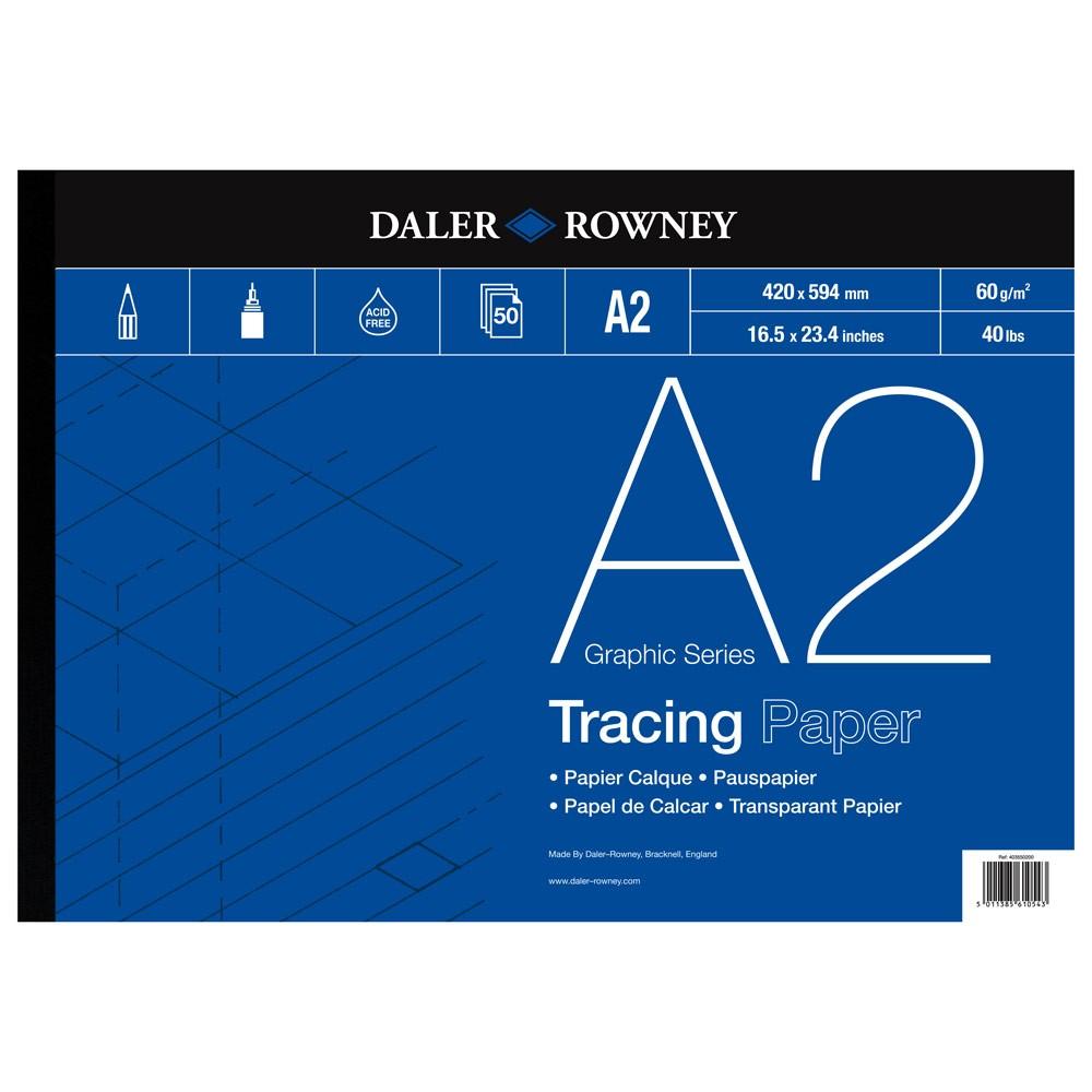 Daler Rowney : Tracing Pad : 60gsm : 50 sheets : A2