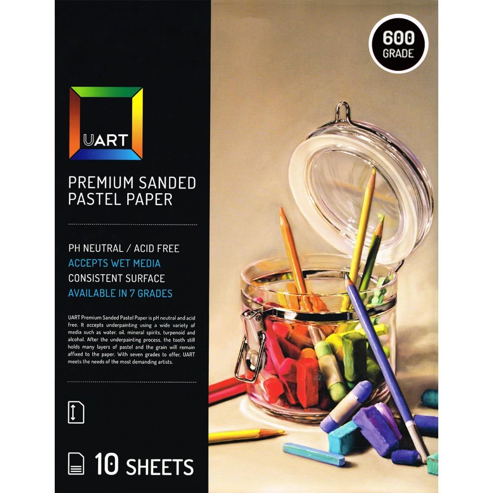UART : Sanded Pastel Paper : 10 Sheet Pack : 12x18in (30x46cm) : 600 Grade