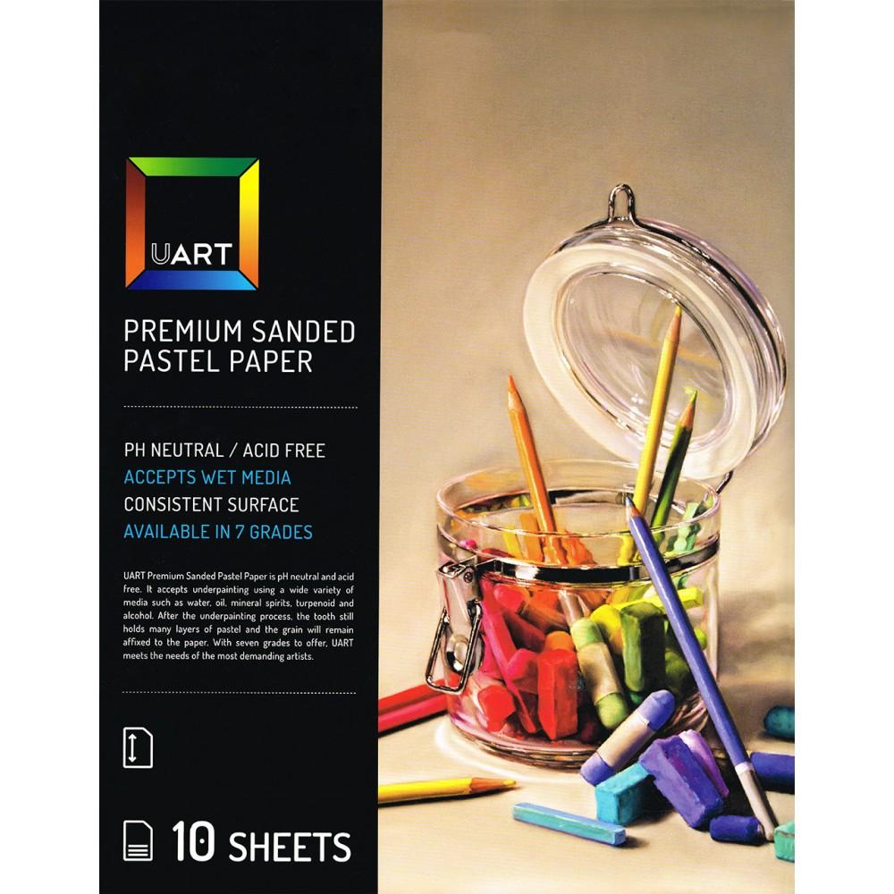 UART : Sanded Pastel Paper : 10 Sheet Pack : 12x18in (30x46cm) : 800 Grade
