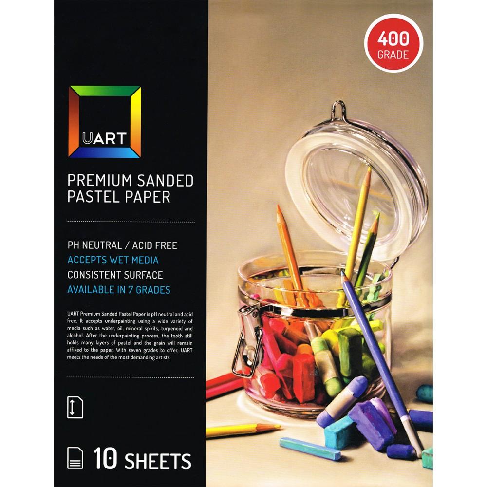 UART : Sanded Pastel Paper : 10 Sheet Pack : 9x12in (23x30cm) : 400 Grade