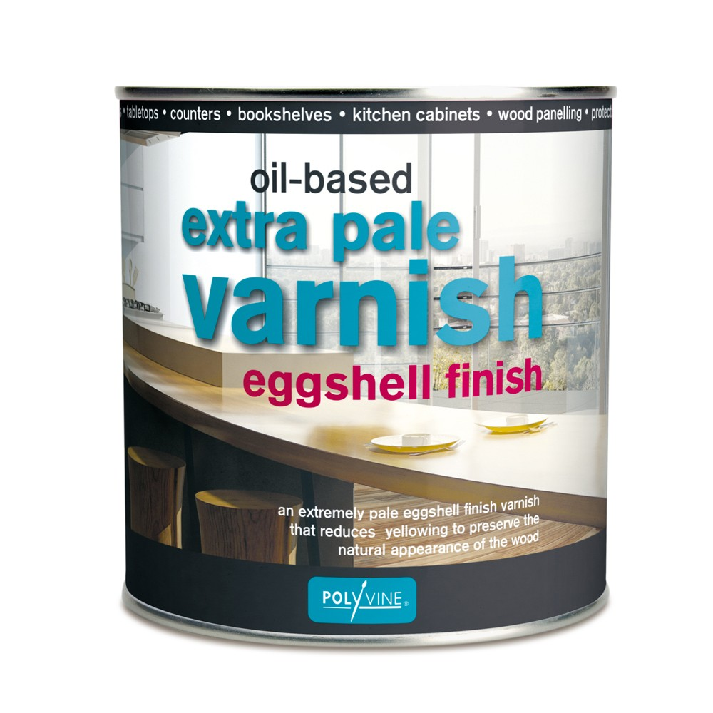Polyvine : Extra Pale Eggshell Oil Varnish : 1 litre