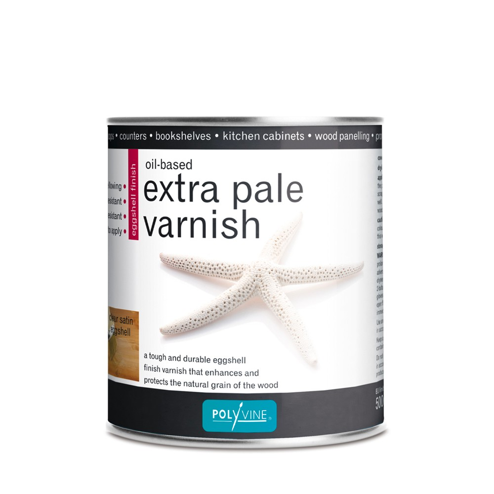 Polyvine : Extra Pale Eggshell Oil Varnish : 500 ml : By Road Parcel Only