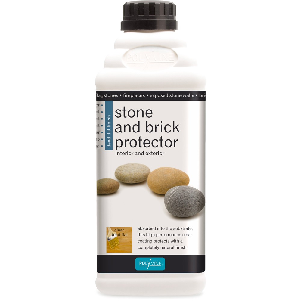 Polyvine : Stone and Brick Protector : Dead Flat : 1 Litre : Interior and Exterior Use