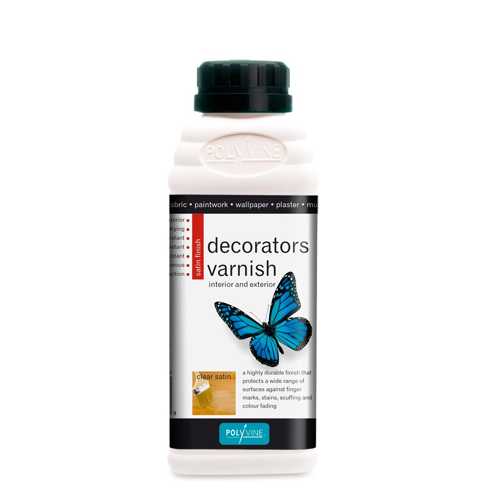 Polyvine : Satin Decorators Varnish : 500 ml