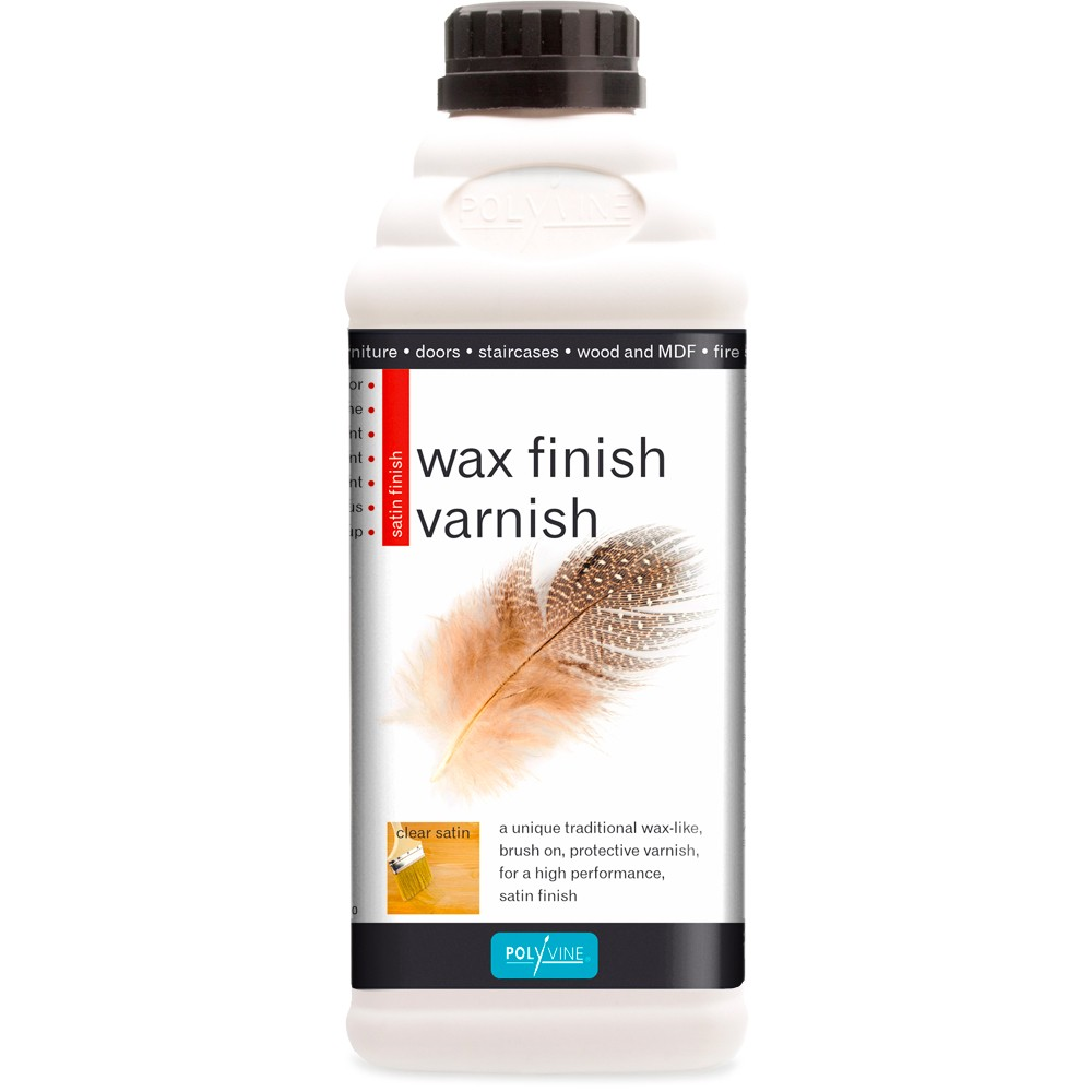 Polyvine : Varnishing Wax 1 litre : Clear Satin